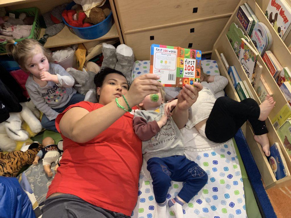 teacher reading to child